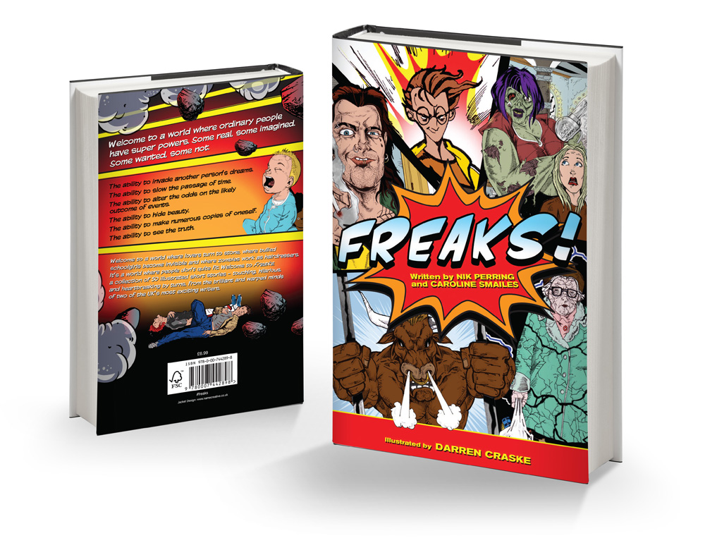 Freaks! Book Jacket Design