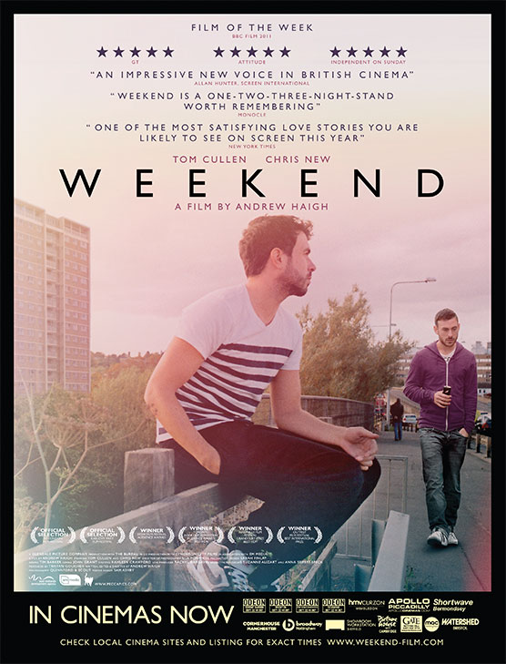 The 4sheet film poster for the movie Weekend directed by Andrew Haigh