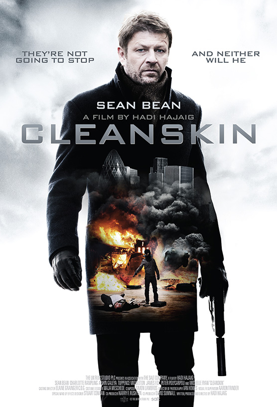 The sales film poster for the movie Cleanskin starring Sean Bean