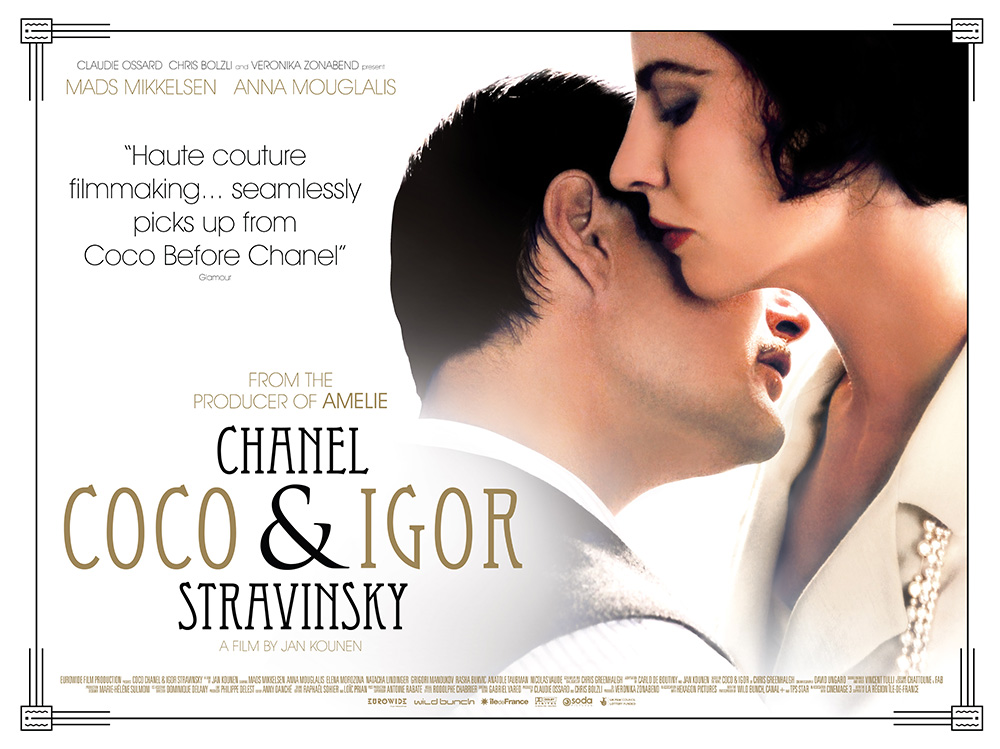 The film quad poster for the movie Coco Chanel and Igor Stravinsky