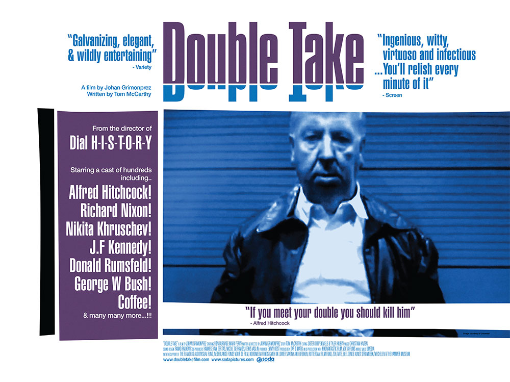 The film poster for the documentary movie Double Take