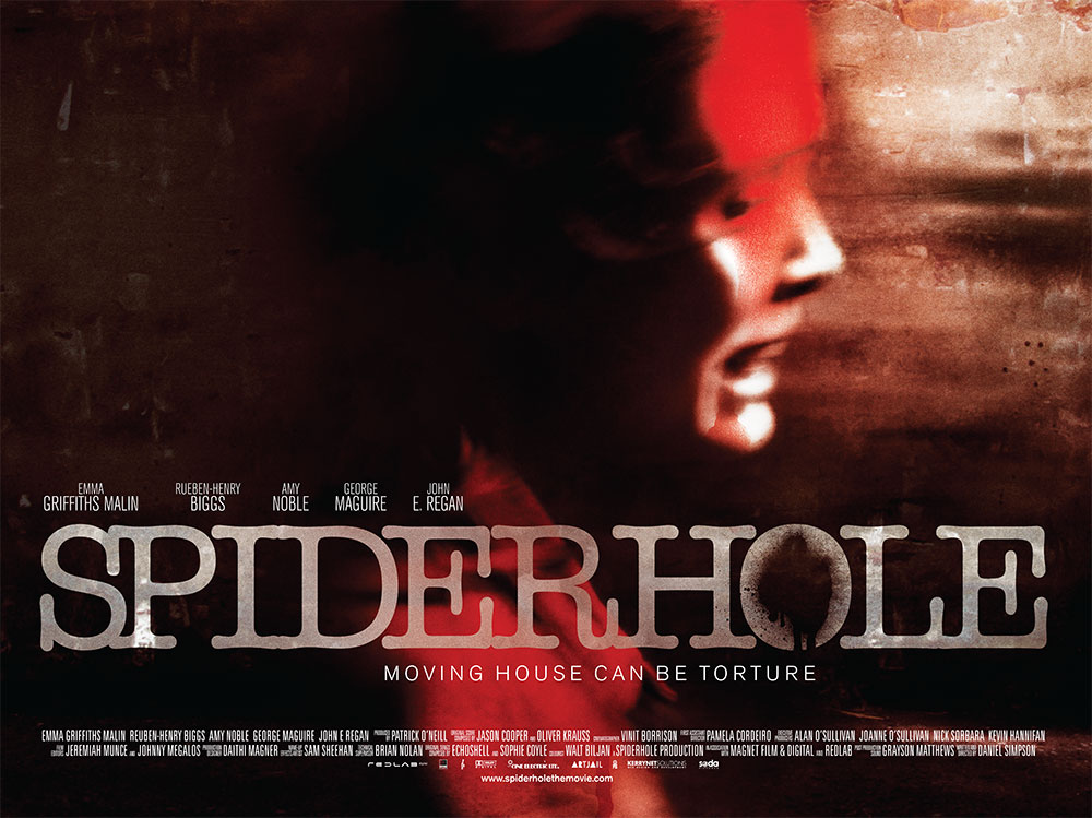 The film quad poster for the movie Spiderhole