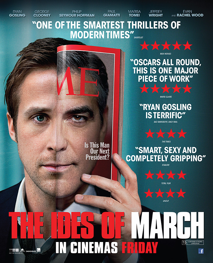 The film advert for the movie The Ides Of March starring George Clooney