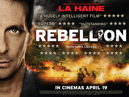 The film poster for Mathiew Kassovitzs' Rebellion